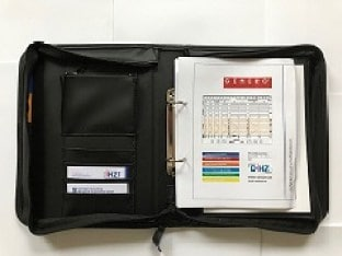 GENERO® Bauleitermappe   A4 Format, inkl. 1 GENERO Gerüstbau Schablone nach Wahl
