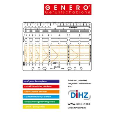 GENERO 7100®   Gerüst Zeichenschablone